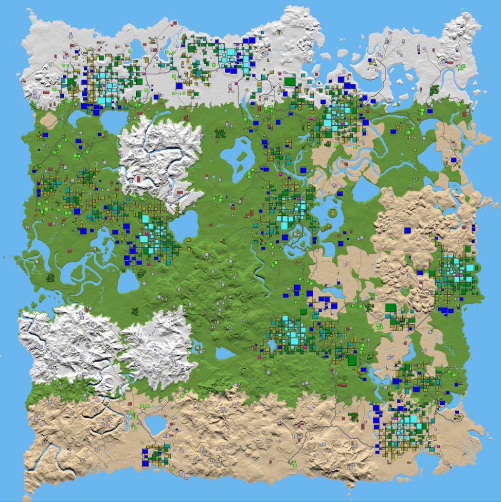 7 Days To Die Nitrogen Generated World Map